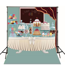 Photo Backdrops Cartoon Table Baby Studio Birthday Cake Background Photography Studio