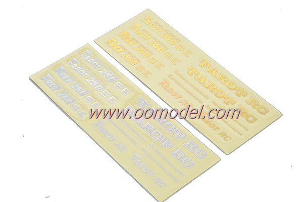 Tarot 250 spare parts TL2653 Hood Laser Stickers for 250 rc helicopters Free Track Shipping(China (Mainland))