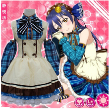 Buy Free Shippig New Anime Love live Sonoda Umi Cosplay Costume Maid Set Costume Peppy Style Kawaii Costume Halloween Party for $38.68 in AliExpress store