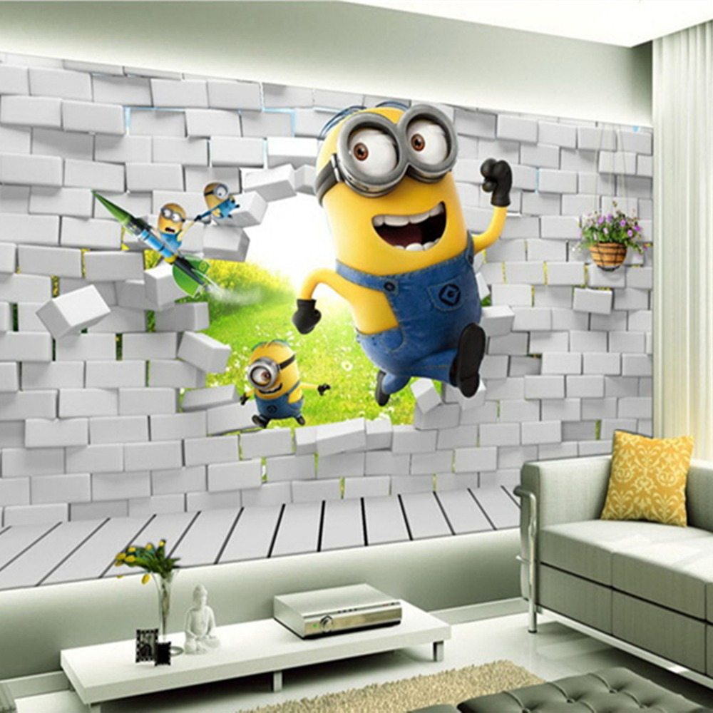 Minions Bedroom Wallpaper Compare Prices On Minions Background Online Shopping Buy Low