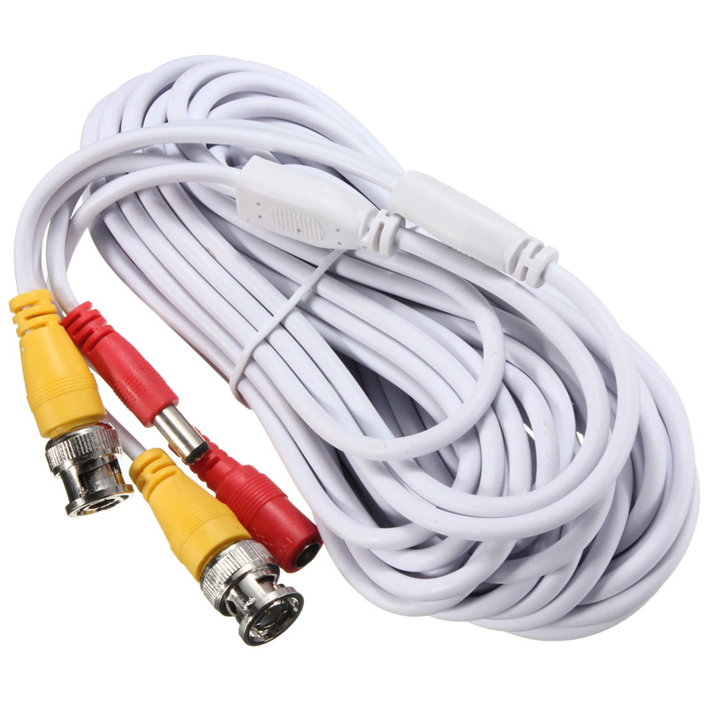 NEW 10m Security Video BNC DC Extension Lead Power Cable for AHD CVI CCTV Surveillance Camera DVR System DC Power Cable(China (Mainland))