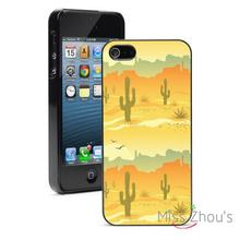 Desert Cactus Protector back skins mobile cellphone cases for iphone 4/4s 5/5s 5c SE 6/6s plus ipod touch 4/5/6