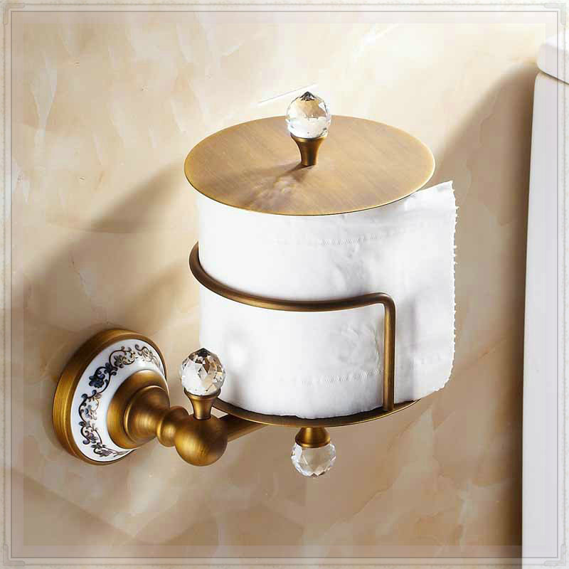 Creative design toilet paper holder antique brass tissue Creative toilet paper holder