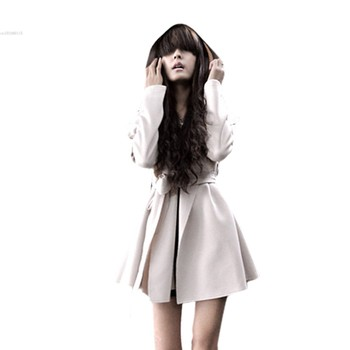 2015 Winter New Stylish Korea Women's Coat Hooded Trench Outerwear Dresses Style Tops 25