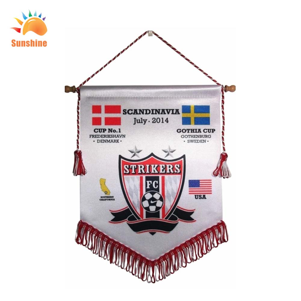 Liaoning China High Quality custom football club pennants and soccer pennants for retail(China (Mainland))