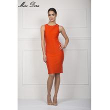 Buy 2016 New Orange Khaki Red O-Neck Hollow Out Bodycon Women Bandage Dresses Midi Sleeveless Celebrity party Khloe Kardashian dress for $17.54 in AliExpress store