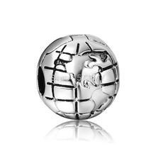 New Unique Round Earth Style 2015 Fashion 925 Sterling Silver European Bead Charms Diy Women Jewelry For Snake Bracelet Bangle