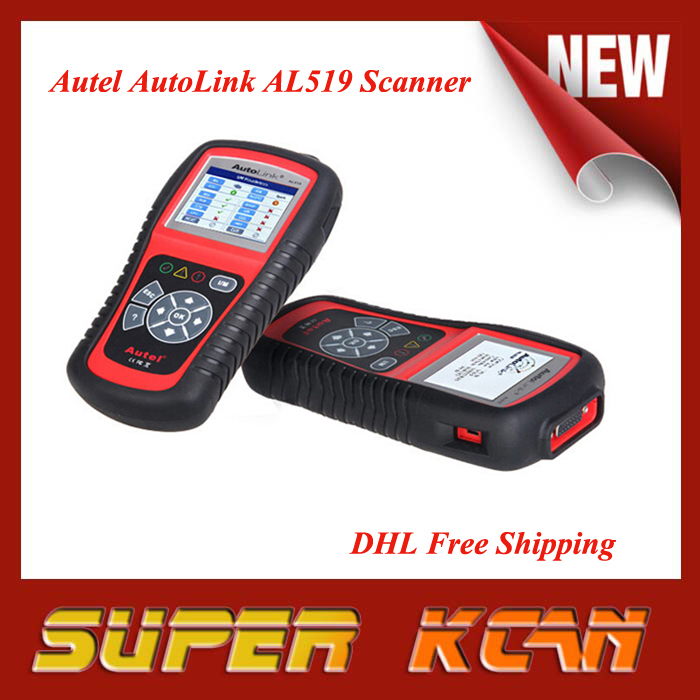 DHL Free shipping AutoLink AL519 OBD2 EOBD Car AL519 Code Reader Scanner Automotive Diagnostic Scan Tool(China (Mainland))