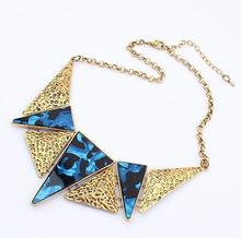 statement Triangle necklace fashion necklace wholesale jewelry 2013(China (Mainland))
