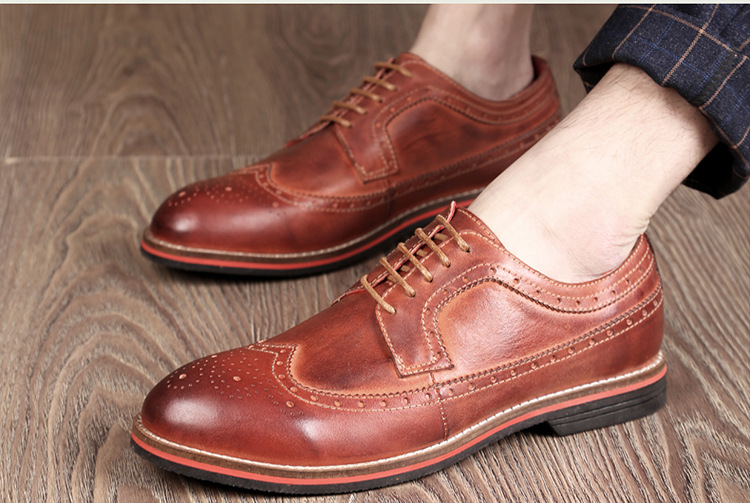 38 - 45 Большой размер мужчины башмаки обувь мужская оксфорды обувь кожаная обувь бизнеса свободного покроя старинные свободного покроя обувь