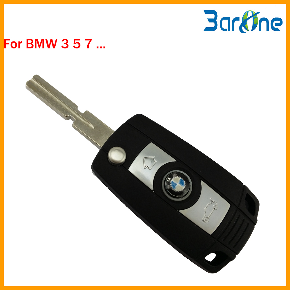 2 button replacement folding flip uncut key blank car key shell for BMW 3 5 7 key(China (Mainland))