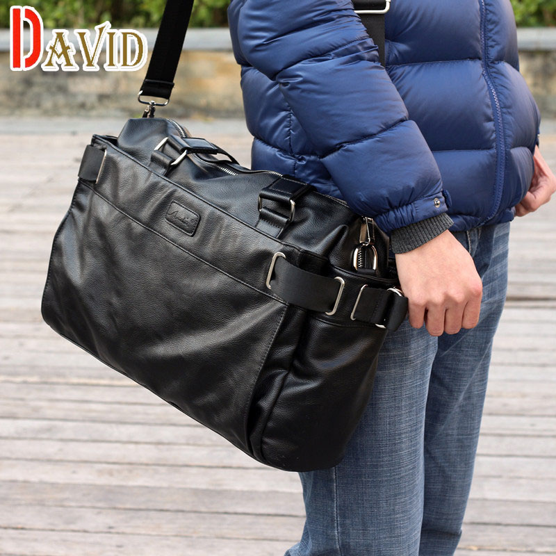 Men messenger bags fashion mens leather big size shoulder bag famous designer brands high quality men's travel bags high quality(China (Mainland))