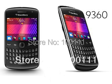 3 PCS/LOT 100% original phone 9360 curve mobile phone support 3g wifi quadband BlackBerry OS 7, free shipping by DHL/EMS(Hong Kong)