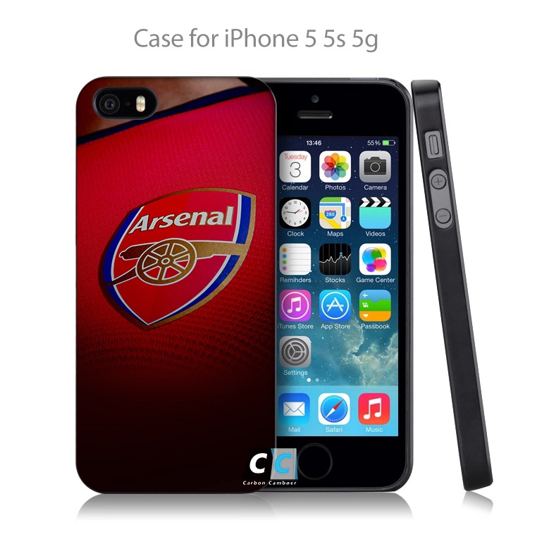 arsenal football england soccer sports logo Hard Black Back Case Cover for iPhone 4 4s 4g 5 5s 5g 5c 6 6s 6 Plus(China (Mainland))