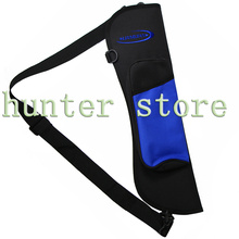 Archery Hunting Slingshot Bow Arrows Holder Back Arrow Quiver Bag with Adjustable Strap