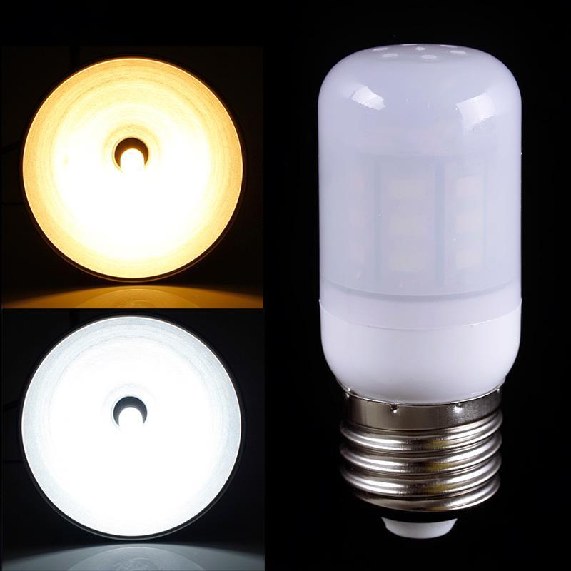 Practical Cover Corn Spot Light Lamp E27 7W 27 LED 5730 SMD Bulb Warm Pure White 12V #69395(China (Mainland))