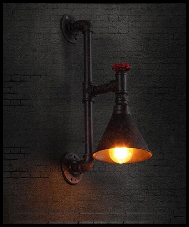 Фотография AC100-240V 1pc E27 Vintage Eidson Wall light industrial  style bar-cafe Art Decor retro decorative water wall lamp Specials