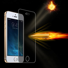0.3mm thin Slim 2.5D Tempered Glass screen protector for iPhone5 iPhone 5 5S 5C Ipone Protective Film Guard pelicula de vidro