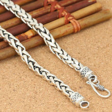 Buy Domineering 6mm thick necklace woven hemp rope 100% 925 sterling silver fashion jewelry brand necklace pendant women or men ZN60 for $63.75 in AliExpress store