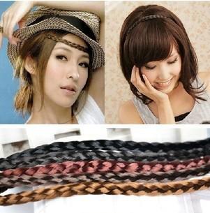 1pcs women's Scrunchie Synthetic Hair Band Plait Hair ring Elastic Bohemian Braids Hair Band Headband Hair Accessories xth085(China (Mainland))