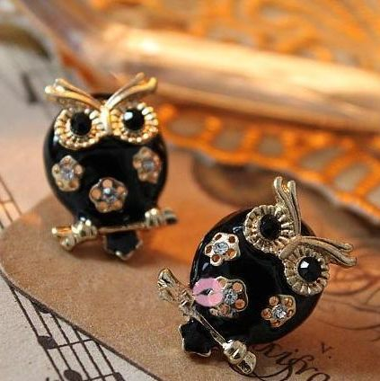 2014 Hot sales Brand Design Fashion Vintage Elegant rhinestone owl earrings  Animal shapes jewelry Accessories wholesale PT31<br><br>Aliexpress