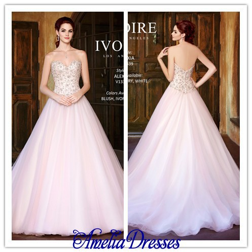 Aw 123 beautiful full a line sweetheart neckline fully for Fully beaded wedding dresses