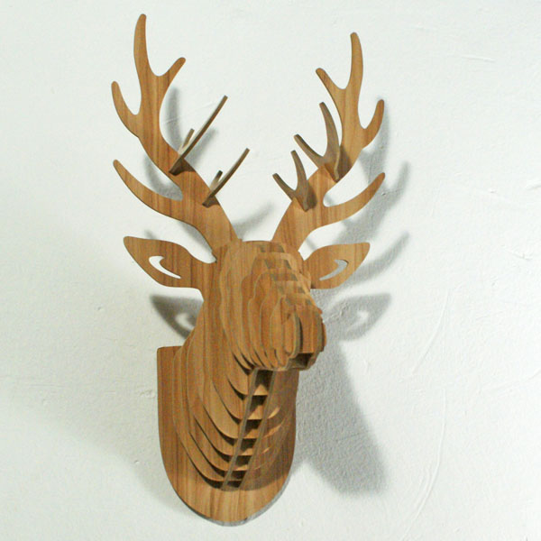 Env o gratis deer head colgante de pared artesan as de for Bricolaje en madera gratis