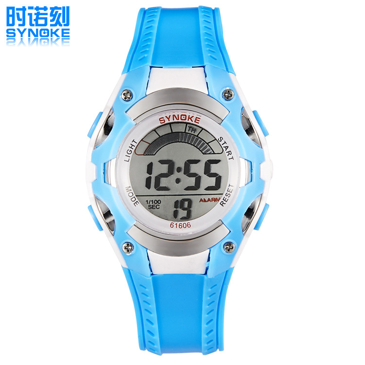 2016 fashion multifunctional mobile electronic light cool colorful candy-colored children's waterproof watches 61606(China (Mainland))