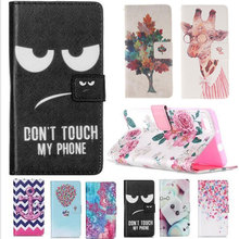 For Fundas Huawei P8 lite Case Silicon Leather Case Cover For Huawei P8 lite Flip Case Owl Flower Stand Painted Protective Shell