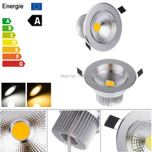 Super Bright Non Dimmable 3W 5W 7W 9W  COB LED Ceiling Light Lamp White / Warm White Silver Aluminum For Kitchen / Living Room(China (Mainland))