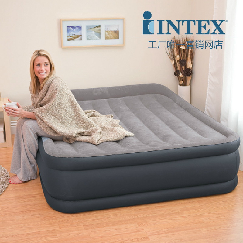 Intex double person air beds set in Bedroom Furniture inflatable bed,size 152cm * 203cm * 47cm,include repair patch(China (Mainland))