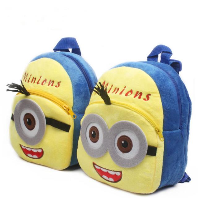 2016 Высокое качество миньоны плюшевые мультфильм игрушки рюкзак дети характер мешок подарок для детей Mochila Infantil горячая распродажа