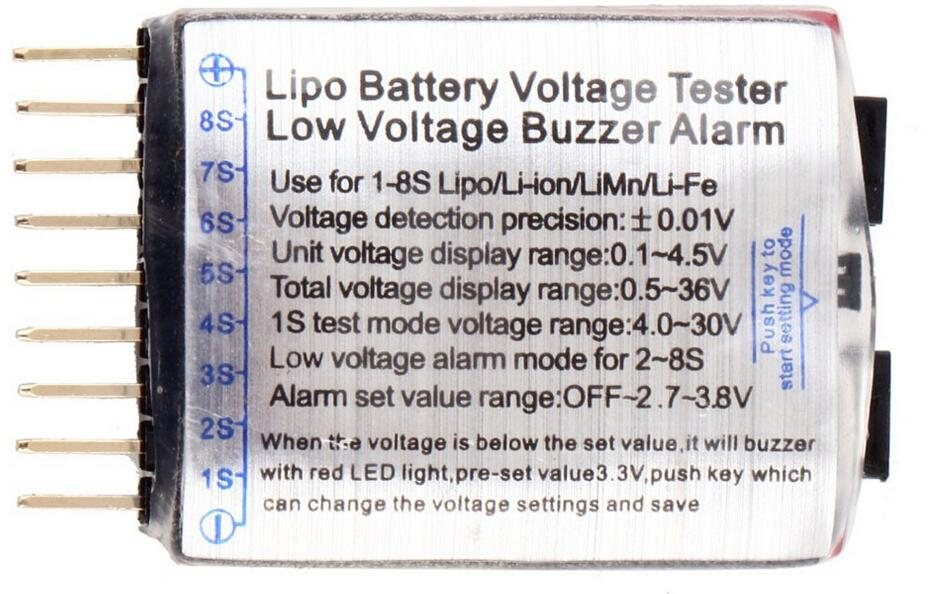 Promotions Hot Sell 1 8s Lipo battery voltage alarm indicator ...