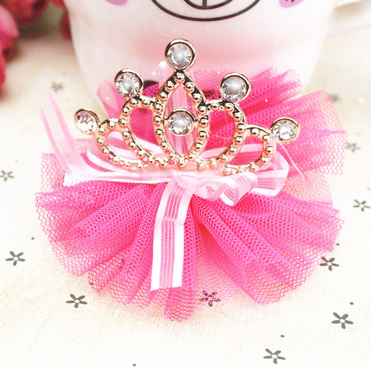 Pet Accessories Pet Product Dog Supplies Crown Princess Stereoscopic Lace Dog Headdress Flower Hair Clips 20 PCS free shipping(China (Mainland))