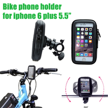 Waterproof Bicycle Bike moto mount Stand Phone GPS Holder Mount Case Bag bolsa support For Apple iPhone 6 iphone6 i6 Plus 5.5″