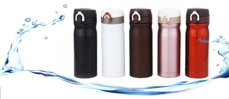 Bike Bicycle 350ml Stainless Steel Vacuum Stain Heat Preservation Bottle Brown(China (Mainland))