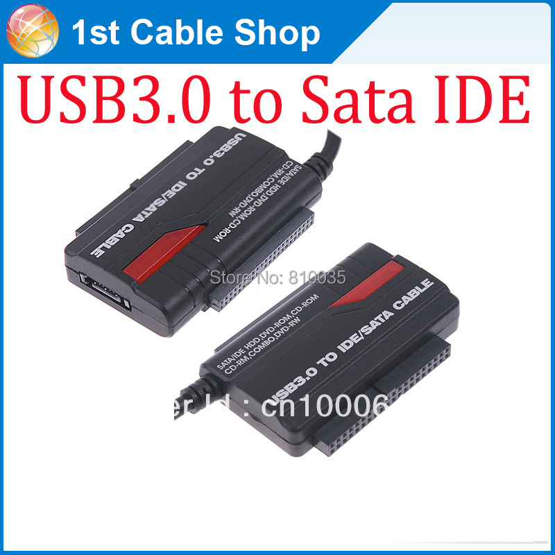 """Free shipping&wholesale 1PCS USB 3.0 to sata IDE converter adapter cable for 2.5""""&3.5"""" sata IDE HDD Drive with 2A power adapter(China (Mainland))"""