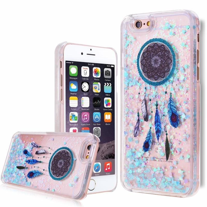 11 Patterns Dynamic Liquid Glitter Sand Dreamcatcher Heart Clear Bling Back Case Cover for iPhone6 6s Plus Cell Phone Cases(China (Mainland))