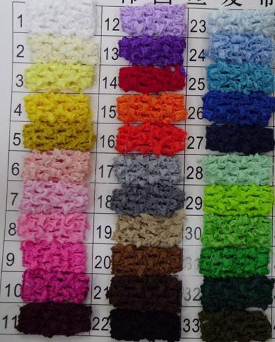 "33Colors Free Shipping Wholesale 1pcs/lot Hi-Quality 1.5"" Newborn Kids girl Top TuTu crochet headband Hair Bow A062(China (Mainland))"