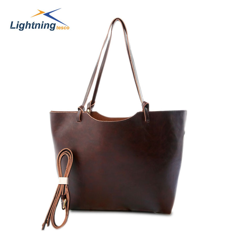 Womens Fashion Large Shoulder Bag Genuine Leather Tote Bag High Capacity Traveling Bag Hot Sale Cowhide Messenger Bag HB005F <br><br>Aliexpress