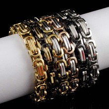Buy CHIMDOU Men Bracelets Jewelry Punk Retro Byzantine Style Stainless Steel Bracelet Chains&Links 2016 Cool Party Gift,AB245 for $2.99 in AliExpress store