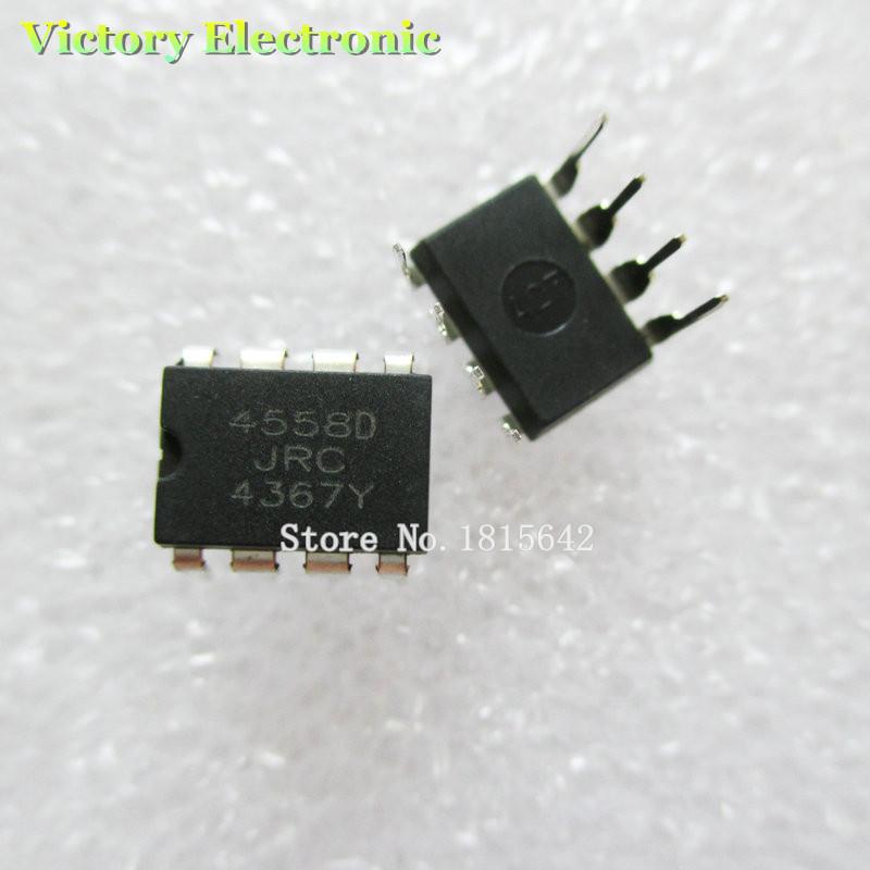 New Original JRC4558 4558 4558D DIP-8 Integrate IC Chip 10PCS/Lot Wholesale Electronic(China (Mainland))