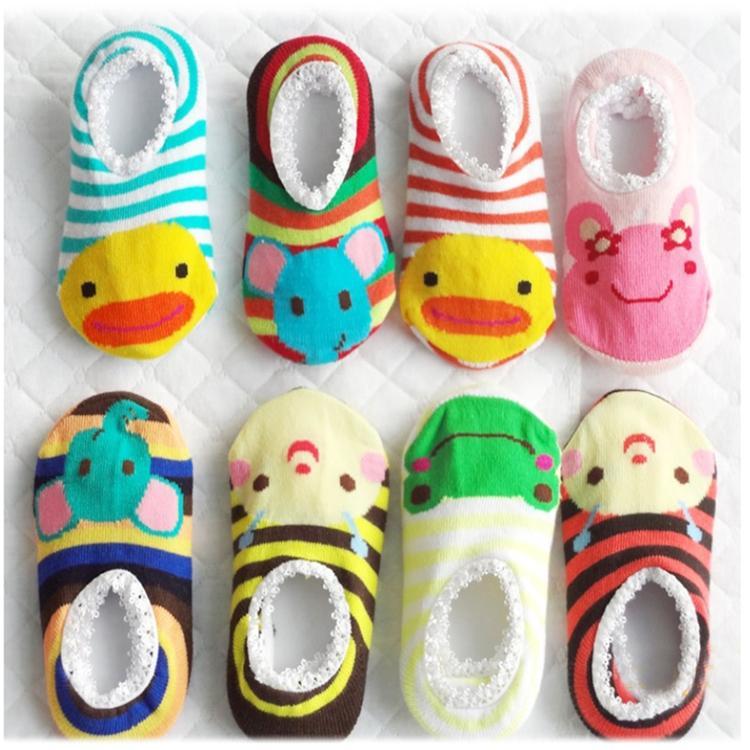 Baby girls boy's socks Walking rubber slip-resistant Cartoon cotton Floor Socks Outdoor faux Shoes 0-2year(China (Mainland))