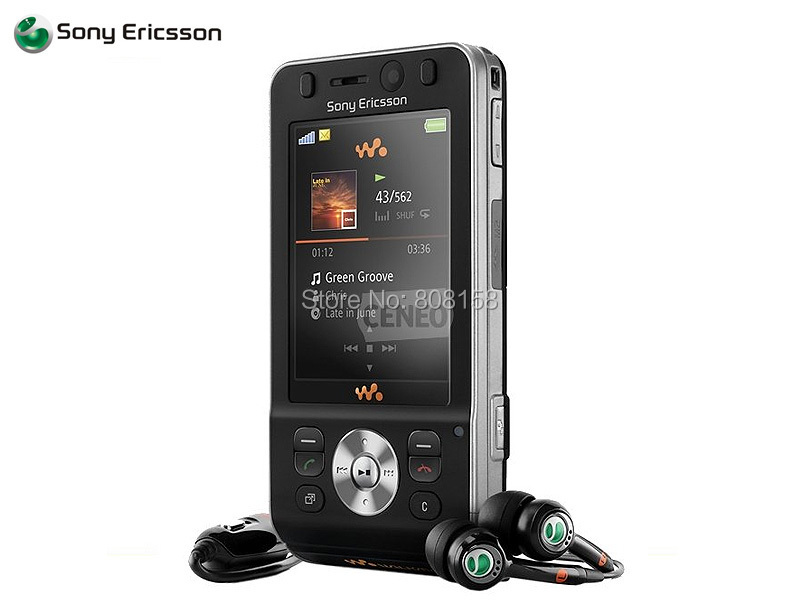 Refurbished SONY Ericsson W910i W910 black red 2 color cell phones Russia keyboard Free shipping(China (Mainland))