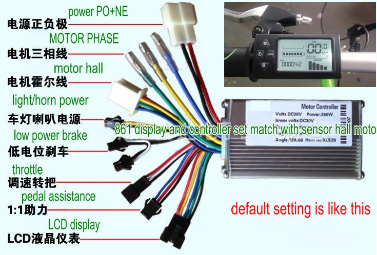 24v36v48v250w350w Controller  U0026lcd Display Manual Control Panel Dashboard For Electric Scooter