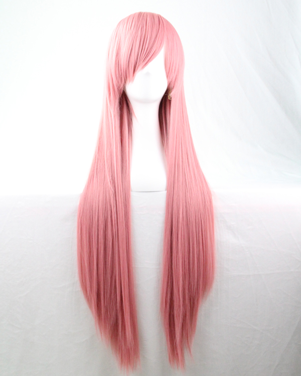 80 cm Harajuku Cosplay Wig Women Men African American Long Straight Synthetic Hair Pink Wig Peruca For Japanese Anime Perruque(China (Mainland))
