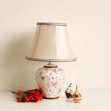 Recalling home furnishings Markor American Ceramic hand-painted lamp 4-E bloom(China (Mainland))