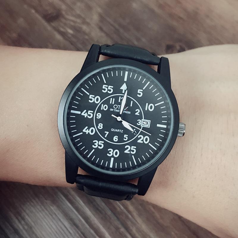 otex luxury brand quartz watch Casual Fashion Leather watches reloj masculino men watch Waterproof Wristwatch Sports Watches(China (Mainland))