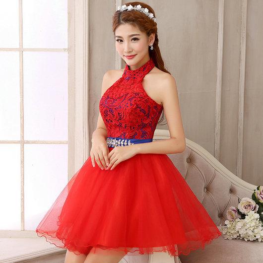 robe de mariage courte rouge. Black Bedroom Furniture Sets. Home Design Ideas