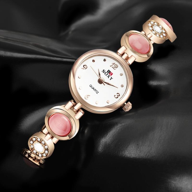 2016 новое прибытие кристалл циркона браслет вахты браслета вахты случае алмаз моды диких женские часы